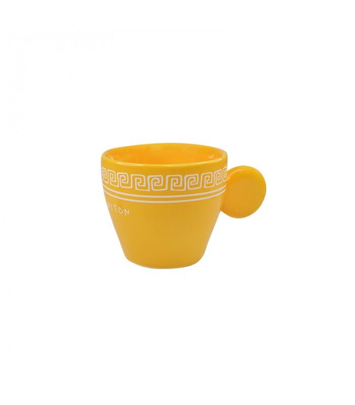Espressotasse aus Keramik gelb