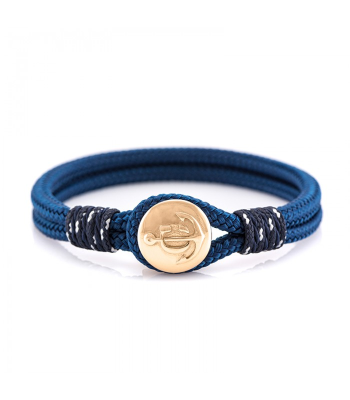 Constantin Maritimes Armband aus Segeltau, blau