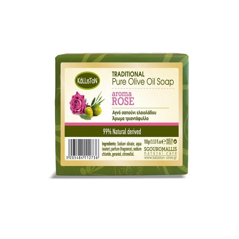 Reine Olivenölseife mit Rosenduft