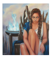 Pythia The Oracle by Angeliki, 90x80cm, oil on canvas. EUR 2400