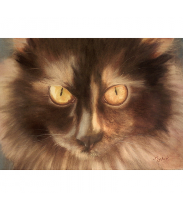 Selini the Siberian by Angeliki, 50x69,5cm, oil on canvas. EUR 750
