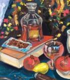 Gemälder der Künstlerin aus der Ukraine namens Angelina
